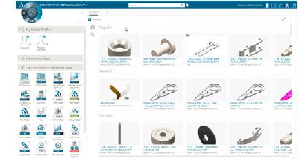 EXALEAD OnePart search results on the 3DEXPERIENCE platform
